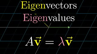 "A visual understanding of eigenvectors, eigenvalues, and the usefulness of an eigenbasis.Watch the full ""Essence of linear algebra"" playlist here: https://goo.gl/R1kBdb------------------3blue1brown is a channel about animating math, in all senses of the word animate.  And you know the drill with YouTube, if you want to stay posted about new videos, subscribe, and click the bell to receive notifications (if you're into that).If you are new to this channel and want to see more, a good place to start is this playlist: https://goo.gl/WmnCQZVarious social media stuffs:Website: https://www.3blue1brown.comTwitter: https://twitter.com/3Blue1BrownPatreon: https://patreon.com/3blue1brownFacebook: https://www.facebook.com/3blue1brownReddit: https://www.reddit.com/r/3Blue1Brown"