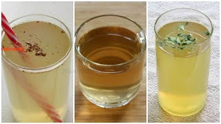 3 Fat Burning Drinks – How To Lose Belly Fat – 5 KG / 3 Flat Belly Weight Loss Drinks