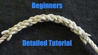 Beginner Friendly Splicing - How To Splice 3 Stranded Rope Together