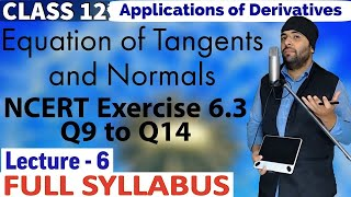 6(F) || Exercise 6.3 Application of Derivatives Class 12 Maths