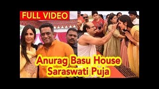 Katrina Kaif In Indian Look At Anurag Basu's house Saraswati Pooja