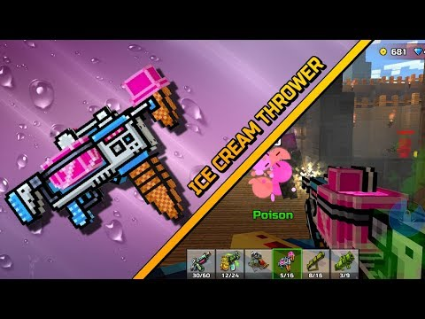 Ice Cream Thrower - Pixel Gun 3D Review gameplay