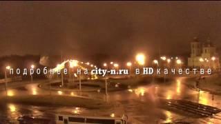 Ночная молния в Новокузнецке с другого ракурса