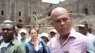 Martelly en colère contre le délabrement de la Citadelle