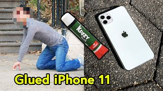 IPHONE 11 PRO GLUED TO FLOOR!