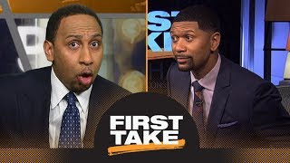 Stephen A. and Jalen Rose get heated over Anthony Davis and Boogie Cousins | First Take | ESPN - dooclip.me