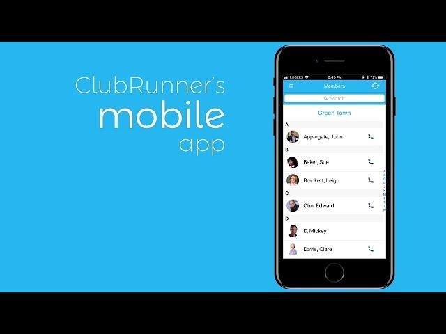 ClubRunner Mobile App now Available!   ClubRunner