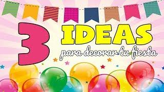 3 Ideas Para FIESTAS TEMÁTICAS ORIGINALES Decoración Con Banners