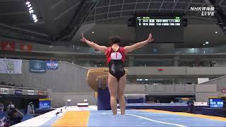 Mai Murakami Stuck Vault at NHK Cup 2018