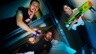 NERF Hide and Seek Challenge...IN THE DARK!