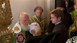 Патриарх Кирилл совершил славление у мощей преподобных Сергия и Германа Валаамских