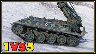 AMX 13 F3 AM - 1 VS 5 - World of Tanks Gameplay