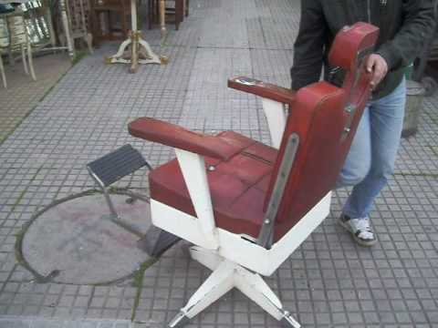 Sillón de Peluquero/barbero vintage años 60