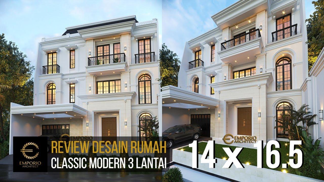 Video 3D Desain Rumah Classic Modern 3 Lantai Ibu Christine - Jakarta