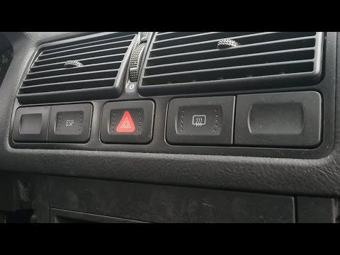 How to remove dash buttons (hazard light switch, defrost, ESP /ASR switch) VW Golf Mk4 Bora