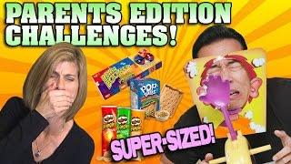 PARENTS EDITION CHALLENGES!!! 1 Hour Mega Compilation! [SUPER SIZE ME WEEK]