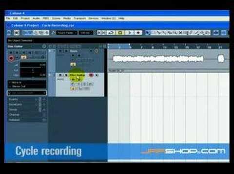 Cubase 4 Tutorial: Recording Audio (Part 2 of 2)