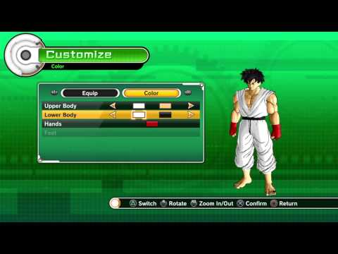 [Dragon Ball Xenoverse] - How to make Ryu [Street Fighter]