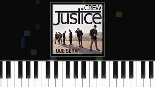 "Justice Crew - ""Que Sera"" Piano Tutorial - Chords - How To Play - Cover"