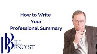 How to write a professional summary