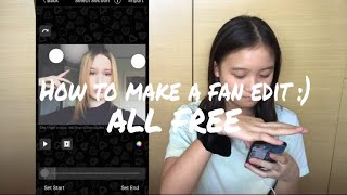 How to make a fan edit with video star (ALL FREE)