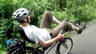 preview picture of video 'HP Velotechnik Streetmachine Recumbent Bike Ride in Paisley, Scotland'