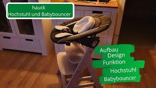 hauck Hochstuhl Beta Plus Whitewashed inklusive Bouncer Deluxe Melange Grey - Aufbau & Funktion
