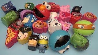Surprise Egg Opening Matching Game for Kids!  Avengers Batman Disney PJ Masks Peppa Pig!