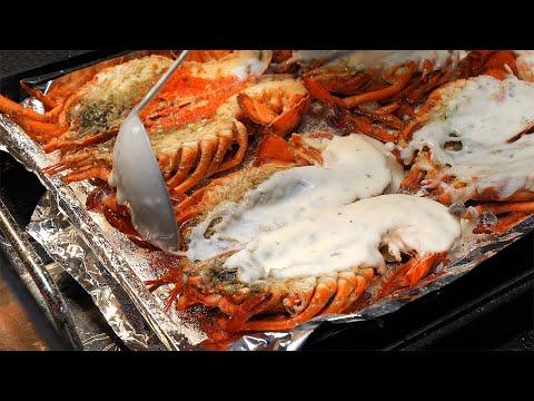 cream cheese grilled lobster / korean street food