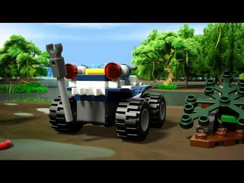 Vidéo LEGO City 60065 : Le 4x4 du policier des marais