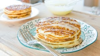 CINNAMON ROLL PANCAKES RECIPE - Breakfast And Brunch Food