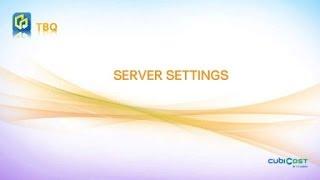 01-1  Server Settings