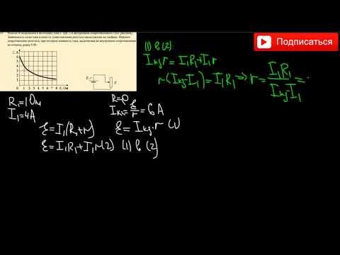 Реостат R подключен к источнику тока с ЭДС ε и внутренним сопротивлением r (см. рисунок).Зависимость
