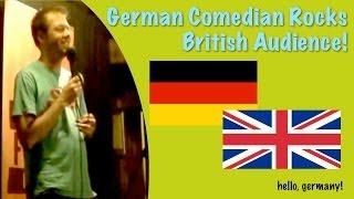 preview picture of video 'German Comedian rocks british audience!'