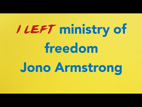 Ministry of freedom❌ jono Armstrong review🚫 Please help me share and spread this video‼️