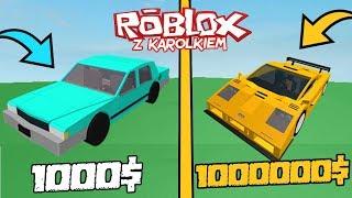 🚗 NAJTAŃSZY VS NAJDROŻSZY SAMOCHÓD! Roblox (Vehicle Simulator ) - [MARATON 6/8] /w karolek