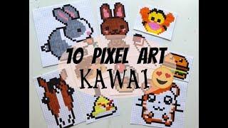 TUTO : 10 petits pixel art KAWAI et faciles