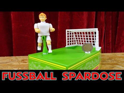 FUßBALL SPARDOSE: schießt, trifft und spart !