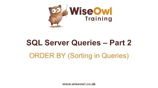 SQL Server Queries Part 2   ORDER BY (Sorting In Queries)