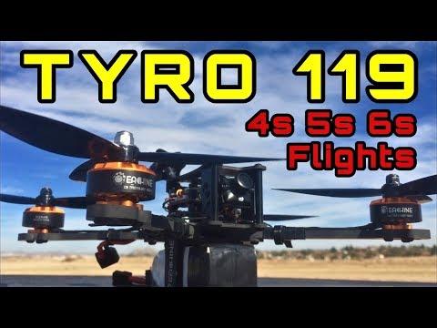 Test Flight 4s 5s 6s Eachine Tyro 119