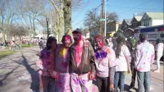 preview picture of video 'Holi Richmond hill queens ny 2012( phagwah)'