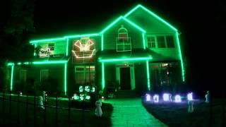 2013 Halloween Lights - Ylvis - The Fox - What does the fox say?
