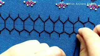 3 Free Handmade Border Embroidery Design Classes;Free Hand Embroidery Designs-01 #StayHome