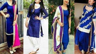 Blue Punjabi Suits/Colour Combination For Punjabi Suits/Punjabi Suits/plain Punjabi Suits Design