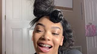 Swoop Bun Hair Tutorial ❤️ // First Attempt