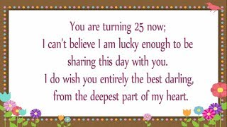 25th Birthday Wishes For Daughter || Happy 25th Birthday