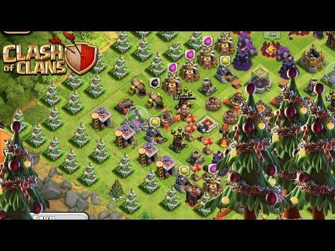 Video Clash of Clans X-Mas Tree Base! Build A New Christmas Update Base!