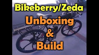 "PBK0038 - Bikeberry/""ZEDA"" BBR Tuning 26"" motorized bicycle - unboxing and build"