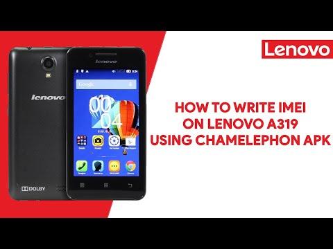 How To Write IMEI On Lenovo A319 Using Chamelephon Apk - [romshillzz]