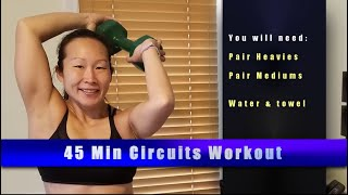 Circuits #4: Medium and Heavy weights 45 min
